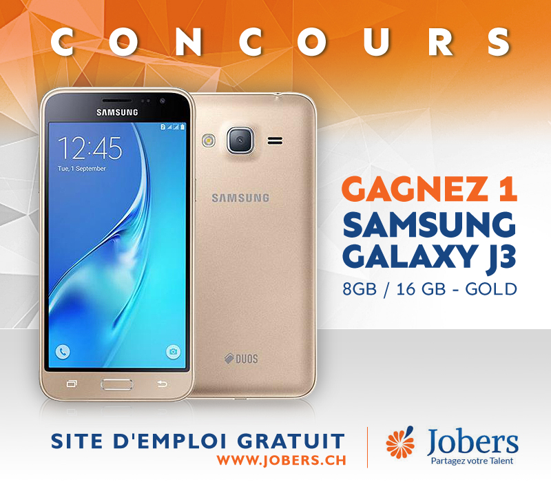 SAMSUNG GALAXY J3 - Concours - Jobers CH